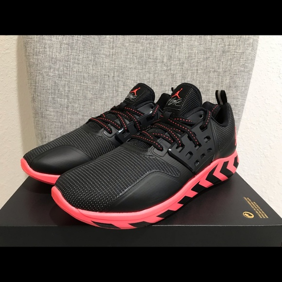 d9bb61ed8ebc8 Jordan Grind Black Infrared Men's Running Shoes NWT